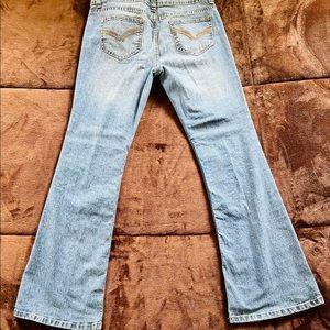 No Boundaries Distressed Jeans Light Blue Flare